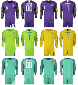 Wholesale Team USA Soccer Long Sleeve Jerseys Goalkeeper Bill Hamid Tim Howard Zack Steffen Hope Solo American Football Kits Shirts Shorts Man