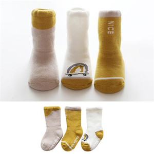 Wholesale 2019 Kids socks new baby boy girl Winter socks children cotton stocks good quality Cotton Soft Socks Baby Candy Color Luvable Friends Newbor
