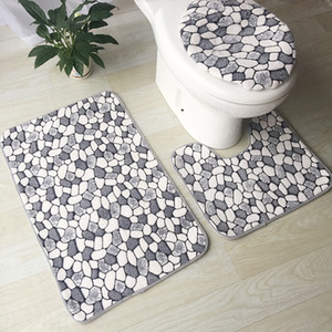 Wholesale modern bath rooms for sale - Group buy Modern Printed Toilet Mat Set Anti Slip Bath Mat Set Bathroom Rug Set Shower Room Rugs Toilet Cover Mat Bathroom Door Floor Rug