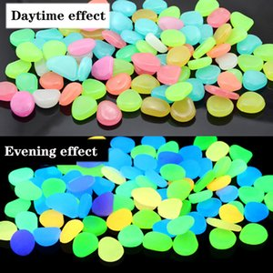 100pcs bag Glow Stones In The Dark Luminous Pebbles Stones For aquarium Wedding Romantic Evening Festive Events Garden Decorations Crafts