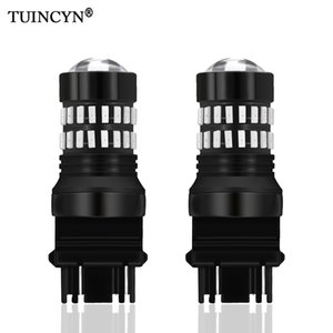 Wholesale TUINCY T25 LED Bulbs with Lens Projector Brake Turn Signal Tail Backup Reverse Lights Brilliant Red DC V