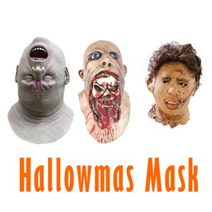 Wholesale 2019 Hot Halloween Adult Mask Zombie Latex Mask Chainsaw Massacre Mask Movie Full Face Costume Party Cosplay Props
