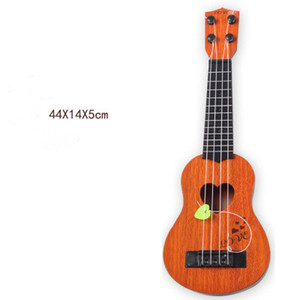 Wholesale Simulation Ukulele Mini Four string Can Play Enlightenment Early Education Music Toy Guitar Novelty Toys Children s Trumpet Musical Instrume