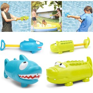 Wholesale Children s Pumping Water Squirt Toy Crocodile Shark Shape Summer Beach Outdoor Swimming Pool Game Playing Water Toys Water Ejector