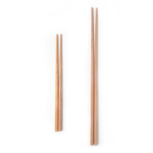 fritado fundo venda por atacado-Natural Wood Noodles Chopsticks Saudável reutilizável Kitchen Sushi Food Chopsticks Cozinha fritada de madeira Super Long Chopsticks VT1587