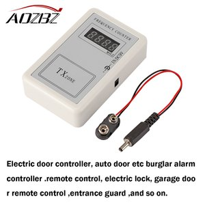 Wholesale AOZBZ RF Remote Control Wireless Frequency Meter Counter for Car Auto Key Remote Control Detector Cymometer Power Supply Cable