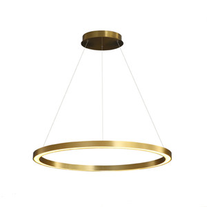 Wholesale art decoration for living room for sale - Group buy New Arrival Nordicr Ring Pendant Light Gold Simple Circle Dimmable Hanging Lamp for Living Room Home diningroom Art Decoration Luminaire
