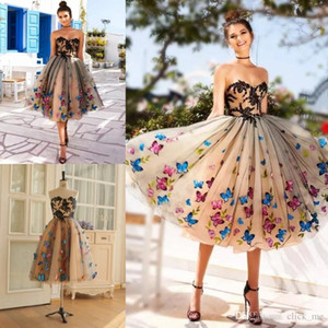 Ball Gown Short Cheap Homecoming Dresses Graduation Dress Tulle Embroidery cocktail Party Dresses Lace Up Sweet 15 Dresses
