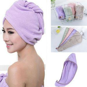 Hot Magic Hair Drying Towel Hat Cap Microfibre Quick Dry Turban For Bath Shower Pool Shower Caps