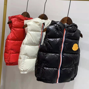 Wholesale 2019 brand M children winter down vest feather weskit jackets kids casual vests coat down coat outer wear size