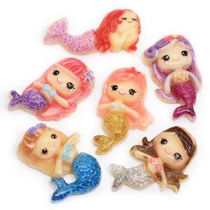 Free Shipping 30 Pcs Mixed Little Mermaid Ariel Resin Flatback Scrapbook Embellishment DIY Phone Decoration 25x21mm(W03821)
