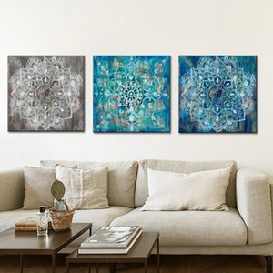 Wholesale Abstract Art Posters and Prints Wall Art Canvas Painting Classic Brick Draw with Mandala Flower Picture for Living Room No Frame