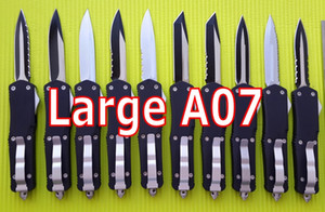 Large A07 Double action out the front Automatic Knives 440C steel EDC tactical Pocket knife bm42 tent camping gear knifes with sheath on Sale