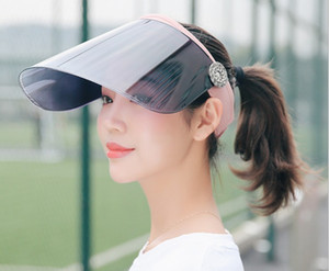 Wholesale New sun hat anti ultraviolet female summer sun hat summer sun protection hat empty top riding electric car lens cap