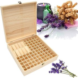 Wholesale Solid Wood Bottle Storage Box Natural Environmental Protection Essential Oil Display Case J190713