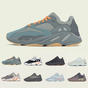 Wholesale 2019 Teal Blue Magnet Kanye West V2 mens Running Shoes Tephra Vanta Analog Utility Black Men Women Wave Runner Mauve sports sneakers