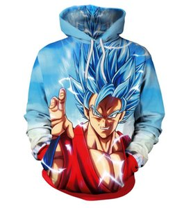 New Dragon Ball 3d digital printing hooded sweater loose long-sleeved clothing