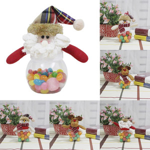 Wholesale Christmas Candy Jar Desktop Decoration Small Round Five pointed Star Fabric Doll Candy Box Home Organizer