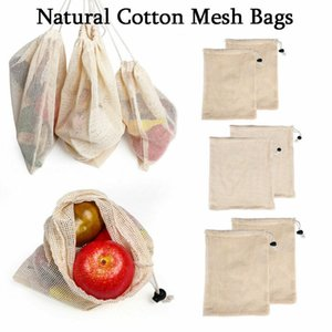 Wholesale 2019 New Reusable Drawstring Bag Cotton Metal Buckle Multi Purpose Rice Vegetable Fruit Shopping Bag High Quality