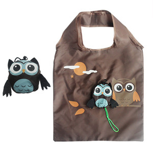 Wholesale 2019 Women Shopping Bags Cute Animal Owl Shaped Folding Shopping Bag Eco Friendly Reusable Tote Bag Portable Travel Shoulder