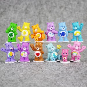 Wholesale Happy Rainbow Bears Japanese Style Kids Toys Multicolor Anime Mini Action figure Toy Children toys for boys girls Gift