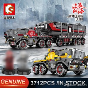 Wholesale Sembo The Wandering Earth Bucket Carrier vehicle Scoop truck Carrier Truck Model Building Blocks Technic Educational Bricks Toy
