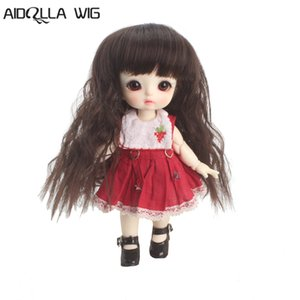 bjd wig 5-6 inch 1 8 high-temperature wig boyvampire long curly hair sd doll Wigs fashion type stylish hair