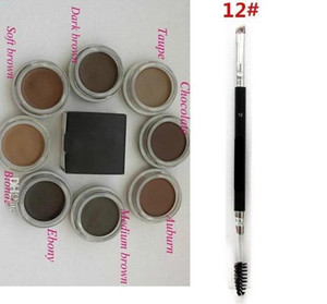 Wholesale Eyebrow Pomade Medium Brown Waterproof Makeup Eyebrow 4g Blonde Chocolate Dark Brown Ebony Auburn Medium Brown TALPE+12# eyebrow brush DHL