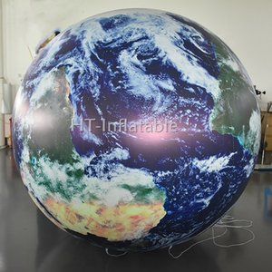 Wholesale Large m Good Made Inflatable Earth Globe Event Sphere Decoration Balloon with LED Light Inside