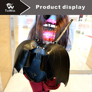 Wholesale Newest Fashion Designer Backpack Women Bat Style Backpacks Solid Color Shoulders Bag High Quality PU Fabric Bags Ladies Travel Handbag Tote