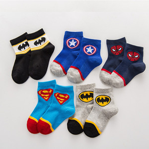 Wholesale 1 years old kids Cartoon socks girl Straight Socks children Christmas boy Marvel baby cotton