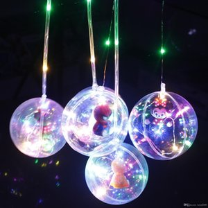 2018 New Style Handle Flash Balloons toys Led String Lights Flasher Lighting Balloon 10inch Balloons Christmas Halloween Decoration lantern
