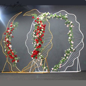 Wholesale Custom wedding thousands of metal grid iron wire arch party wedding backdrop decor arch stand grid Mori geometry wrought shelf
