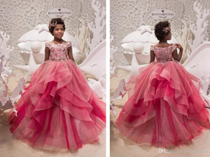Wholesale 2019 New Style Ball Gown Girls Pageant Dresses Little Girl First Communion Dresses Organza Camo Flower Girl Dresses