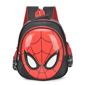 Wholesale 2018 HOT D cartoon spider man children school bag students waterproof backpack kids cool boy travel Stationery bag child gift Y190601