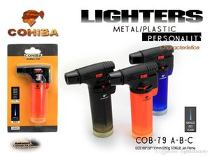 Wholesale New Arrival Hot Genuine Product COHIBA Lighter Wind proof Lighter Creative Pipe Lighter New Cigar Torch With Gift Box
