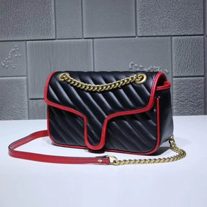 Wholesale Global Classic Deluxe Matching Leather Shoulder Bag Best Quality Metal Chain Handbag Size cm cm cm