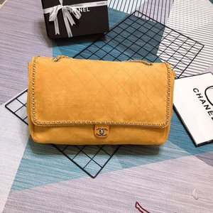 Wholesale 2019 brand handbag High quality fashion shoulder bag Yellow diamond mini metal chain tote Ladies fashion bag AB