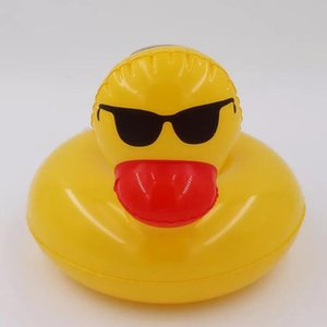 Wholesale 1pcs Duck Inflatable Drink Holder Decoration Swimming Pool Beach Party Kids Bath Yellow Duck Drink Floats Seat