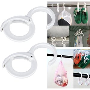 Wholesale 2pcs Plastic S Shaped Hooks Latch Hanging Towel Slipper Hat Clothes For Kitchen Bathroom Tool Multi functional storage Hooks HH4