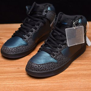 Wholesale New Arrival Dunk SB High OG Unique Gift Basketball Shoes Blue Black Bee Men Woman Sports Outdoors Sneakers Size36