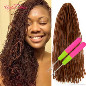 Wholesale crochet braids weave hair resale online - Long Crochet Hair Extensions Synthetic Hair Weave Inch Braiding Hair Dreadlocks By Micro Locs Sister Locs Straight for EU Dhgate free hook