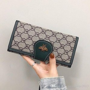 Wholesale flip coin for sale - Group buy Factory brand women handbag retro imitation old lock long wallet fashion printed leather coin purse flip multi card leather handba