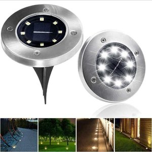 Wholesale Solar Powered Ground Light Waterproof Garden Pathway Deck Lights With LEDs Solar Lamp for Home Yard Driveway Lawn Road Decoration LT676