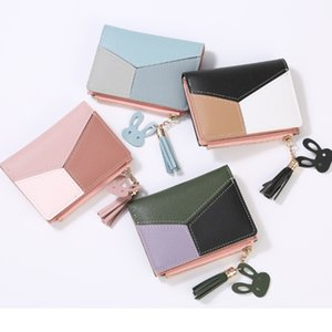 Wholesale 2019 New Luxury Fashion Woman Wallet Retro Versatile Folding Brand Wallet Case Imitation Leather Designer Wallet Free Shipping