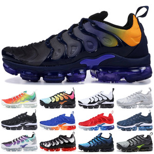 Wholesale Persian Violet TN Plus Running Shoes Men Women Designer Shoes Photo Blue Bumblebee Sunset White Black Sport Sneakers