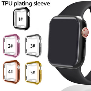 For Apple Watch iWatch cover Electroplating 360° anti-fall shell four generation watch TPU plating protective cover for iwatch 4