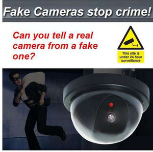 Wholesale blink camera for sale - Group buy Dome Dummy Security CCTV Cameras flash Blinking red LED Fake camera Security Simulated video Surveillance Deter Robbery