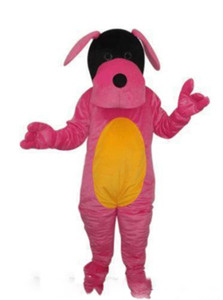2019 Hot sale Pink dog puppy adult size mascot costume free shipping