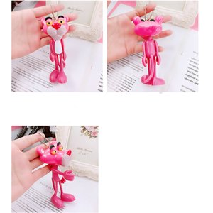 Pink Leopard KeyChain Action Character Toy little leopard key ring 27Color Pink Leopard Keyring Backpack Pendant Doll Children Gift 2018112